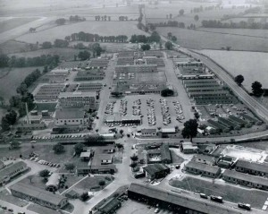 Yeovilton. late1960's and 1970's. Wrens Quarters were at the back on the right