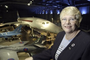 BBC photo of me in the FAA Museum, Yeovilton