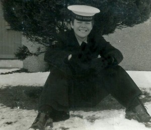 Winter at HMS Condor (Arbroath) 1967 during my 6 months training as Aircraft Mechanic