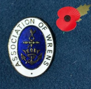 Wrens AOW badge with poppy